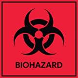 Biohazard Stickers Signs (Pack of 10) | Decals for Labs, Hospitals, and Industrial Use by Sutter Signs
