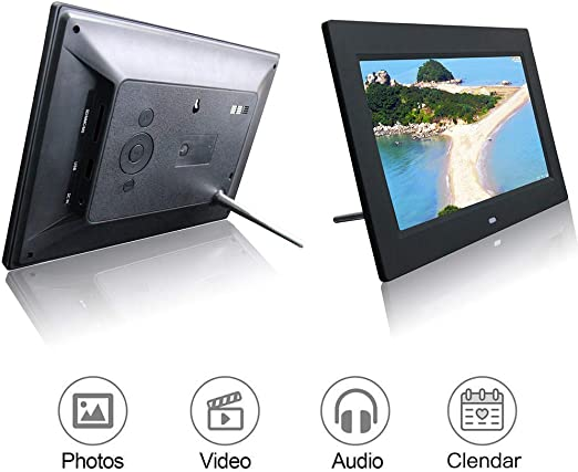 Advertising Media Player with a High Definition 1024600 TFT Screen LED Backlight,Support Picture Music MP3 MP4 etc,Black Mengen88 10 Inch Digital HD Picture Frame