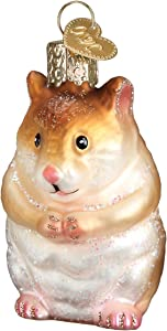 Old World Christmas Animal Collection Glass Blown Ornaments for Christmas Tree Hamster