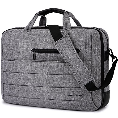 BRINCH 17.3 Inch Nylon Shockproof Carry Laptop Case Messenger Bag for 17-17.3 Inch Laptop/Notebook/MacBook/Ultrabook/Chromebook with Shoulder Strap Handles and Various Pockets ()