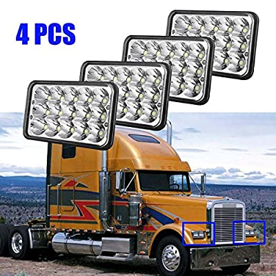 """4x6"""" LED Headlights Sealed Beam Hi/Lo Headlamps H4651 H4652 H4656 H4666 H6545 for 2002-2010 Freightliner Classic"""
