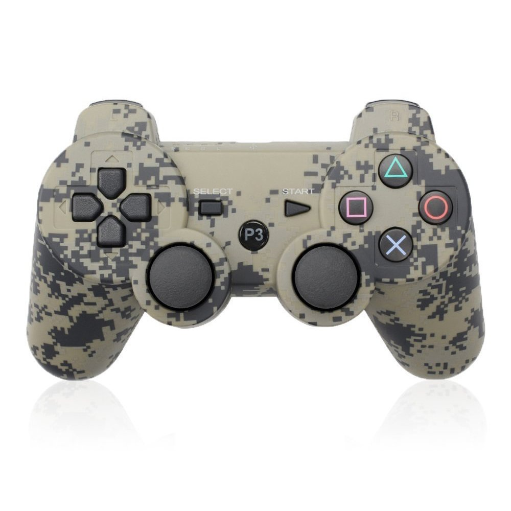 PS3 Controller Wireless Bluetooth Six Axis Dualshock Game Controller for Sony PlayStation 3 PS3 (Camouflage Gray)