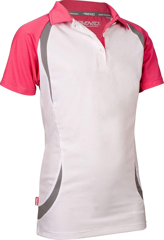 Avento Kids Sport Polo Shirt White/Pink/Gray: Amazon.es: Deportes ...
