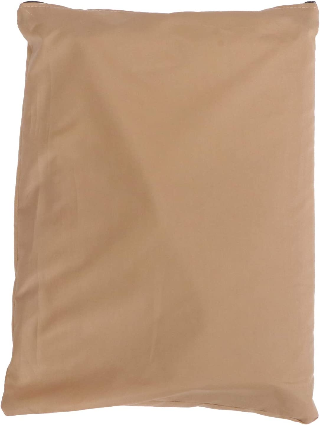 YARNOW Lawn Tractor Leaf Bag Reusable Collapsible Garden Leaves Waste Cloth Oxford Trash Collection Bag Garbage Cleanup Bag for Garden Lawn Pool Yard (Khaki)