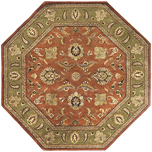 (Surya CRN-6019 Crowne Dark Rust 8-Feet Octagon Area Rug)