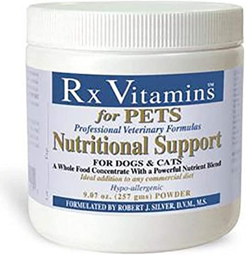 Rx Vitamins Nutritional Support for Dogs Cats – Nutrient-Filled Food Supplement Powder – Veterinarian Formulated – 9.07 oz Powder