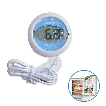 GuDoQi Termómetro Digital Refrigerador con Baja Temperatura A Prueba De Agua con Lechón Imán Tipo De