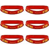 Pulseras de goma bandera de España. Envío GRATIS 72h: Amazon.es: Belleza