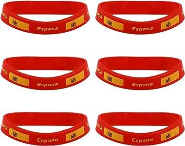 LUOEM 6Pcs Pulseras bandera Espana Pulseras Bandera Silicona de Nacional 2018 Copa Mundial futbol FIFA Espana: Amazon.es: Juguetes y juegos