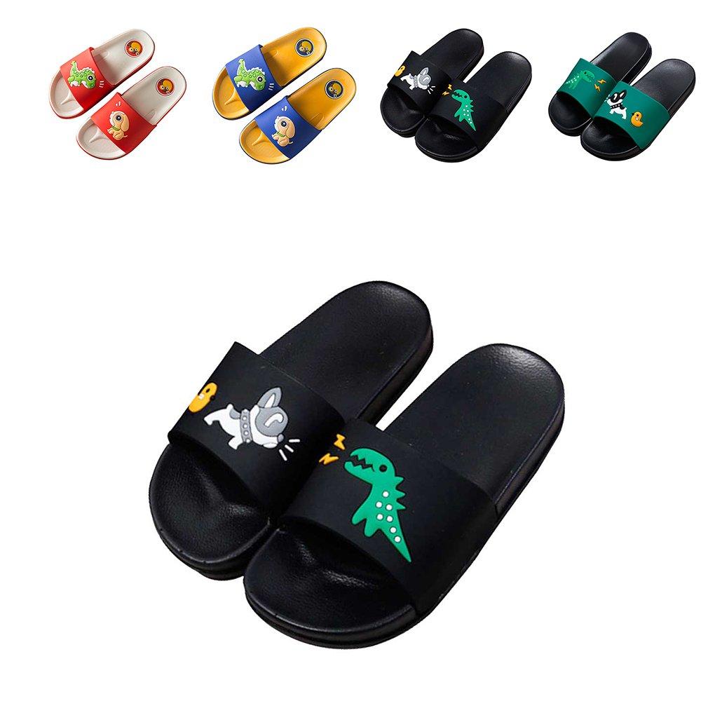 JACKSHIBO Boys Girls Slide Sandals, Outdoor Indoor Sandals Beach Water Flip Flop