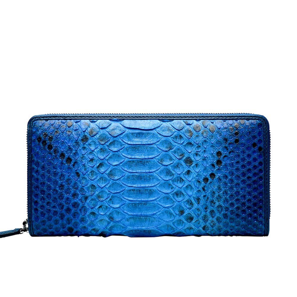 HWX 財布 メンズ ハンドバッグ クラッチ レザー ラグジュアリー ビジネス 大容量 高級 ロング ジップ 財布 - ユニセックス (3色オプション) (カラー : ブルー サイズ : 21cm2.5cm11cm) B07L4P4MD5
