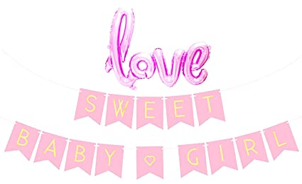 amazon com baby shower decorations for girl pastel pink sweet