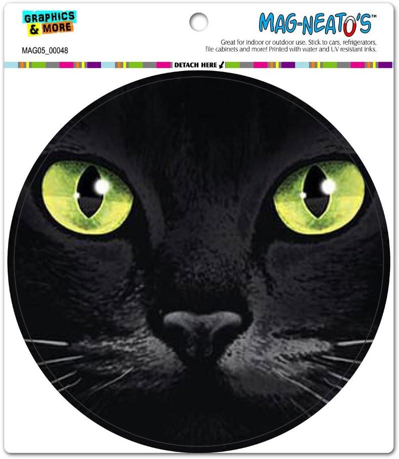 Amazon.com: Gato Negro Ojos verdes – Círculo mag-neato ...