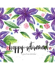 Happy Retirement to You from All of US: Retirement Message Book, Purple Florals Watercolor, Happy Retirement Guest book, Keepsake for Retirement Party