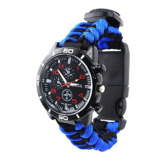 5799700fd8fb Amazon.com  Survival Military Mens Watches - Multifunction Compass ...