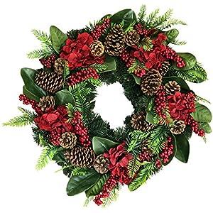 The Wreath Depot Arietta Winter Wreath, 22 Inches, Stunning Designer Quality Christmas Wreath, Transforms Seasonal Decor, White Gift Box Included