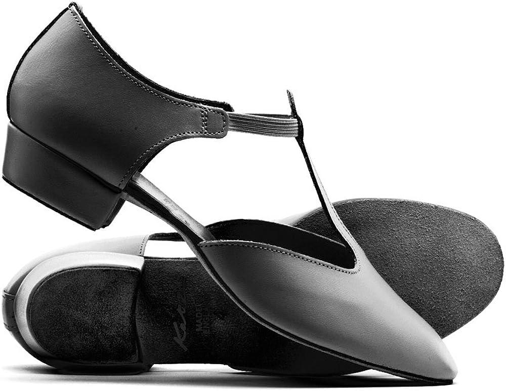 Katz Dancewear Ladies Girls Black Leather Dance Greek Sandal Teaching Jive Salsa Cerco Shoes