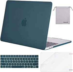 MOSISO MacBook Pro 13 inch Case 2019 2018 2017 2016 Release A2159 A1989 A1706 A1708, Plastic Hard Shell Case&Keyboard Cover&Screen Protector&Storage Bag Compatible with MacBook Pro 13, Deep Teal