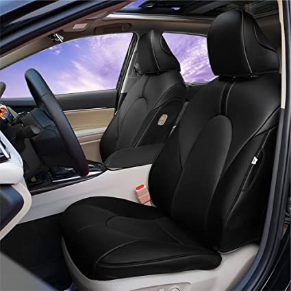 BeHave Autos Car Leather Seat Covers Fit Toyota Camry 2018 Auto Full Set Cushion Protector