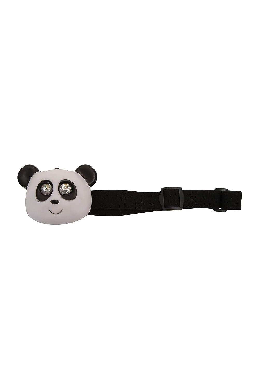 Correa Ajustable para la Cabeza Mountain Warehouse Linterna con dise/ño de Panda Ideal para Camping y Viajes Duradera 2 LED