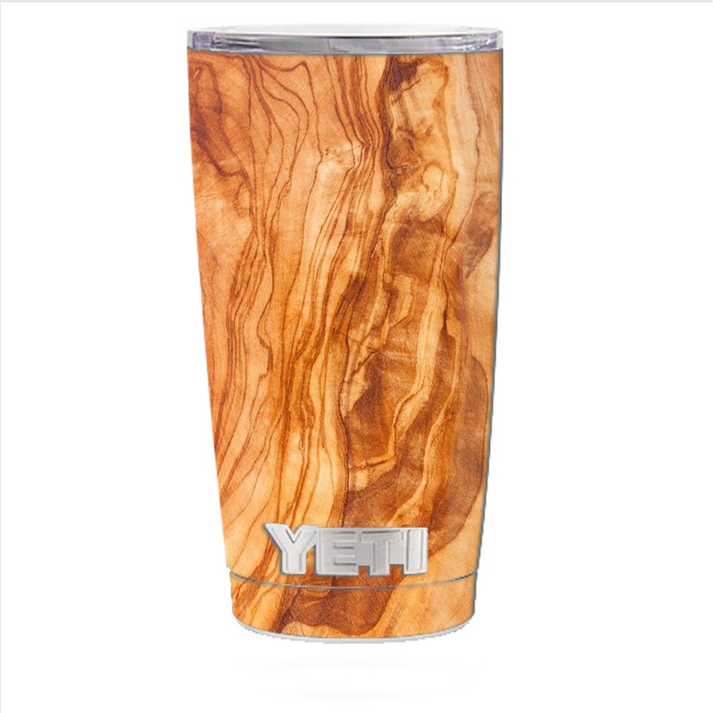 Skin Decal Vinyl Wrap for Yeti 20 oz Rambler Tumbler Cup Skins Stickers Cover / Marble Wood Design Cherry Mahogany
