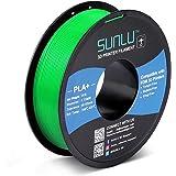 PLA+ 3D Printer Filament 1.75mm, SUNLU PLA Filament PRO, Dimensional Accuracy +/- 0.02 mm, 1 kg Spool, 1.75 PLA Plus, Green