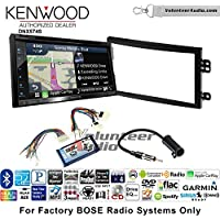 Volunteer Audio Kenwood DNX574S Double Din Radio Install Kit with GPS Navigation Apple CarPlay Android Auto Fits 2003-2005 Nissan 350Z (With Bose)