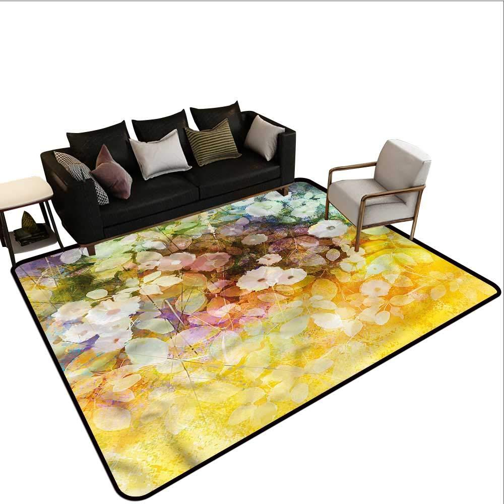 "Flower,Kitchen Doormat 48""x 60"" Soft Colored Romantic Design Bedroom Rugs 61vHr7fbVrL._SL1000_"