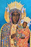 Polish Madonna and Child Jesus Christmas POSTER Print A2 Our Lady of Czestochowa Black Madonna Poland Picture Religious Catholic Christian Paintings Holy Wall Art Decor for Home Room Chapel