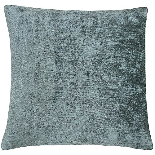 Riva Home Hampton Velvet Style Square Cushion Cover (20 x 20in) (Duck Egg)