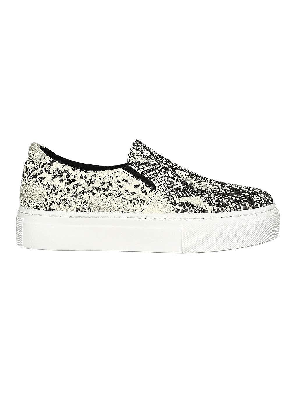 344a5d5838c95 Amazon.com | Alrisco Women Printed Slip On Flatform Sneaker RC37 ...