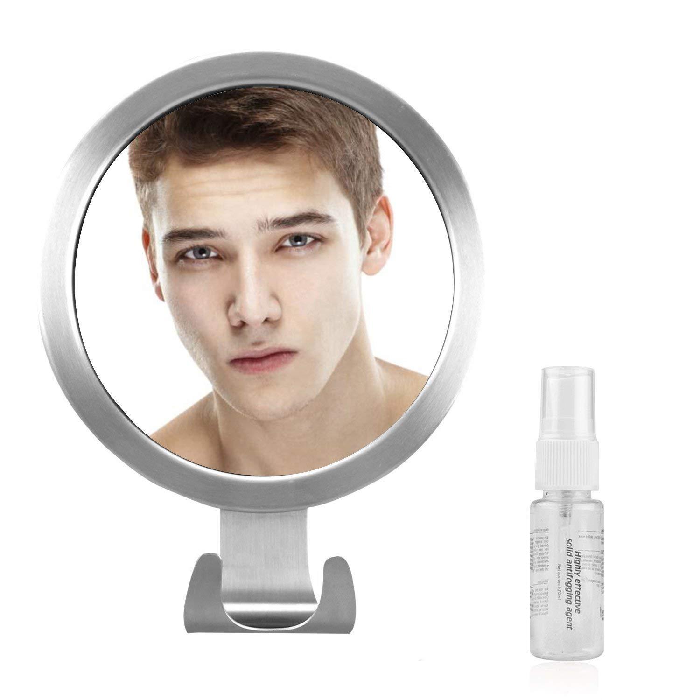 Elegear Rasierspiegel Duschspiegel Badspiegel mit Saughaken, Einstellbarer Wandspiegel mit starkem Saugknopf, Kosmetikspiegel Wandspiegel Schminkspiegel für Badezimmer, Duschen, usw