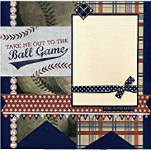 Take Me Out to the Ballgame - Premade Scrapbook Page