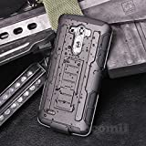 LG G3 Case, Cocomii Robot Armor NEW [Heavy Duty] Premium Belt Clip Holster Kickstand Shockproof Hard Bumper Shell [Military Defender] Full Body Dual Layer Rugged Cover (Black)