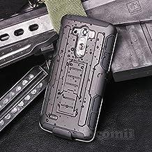 LG G3 Case, Cocomii Robot Armor NEW [Heavy Duty] Premium Belt Clip Holster Kickstand Shockproof Hard Bumper Shell [Military Defender] Full Body Dual Layer Rugged Cover (Black)
