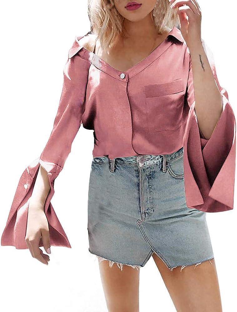 Rcool Camiseta Camisetas Tops y Blusas Camisetas Mujer Manga Corta Camisetas Deporte Mujer Camisetas Mujer, Blusa sin Mangas con Cuello en V y Manga Corta para Mujer: Amazon.es: Ropa y accesorios