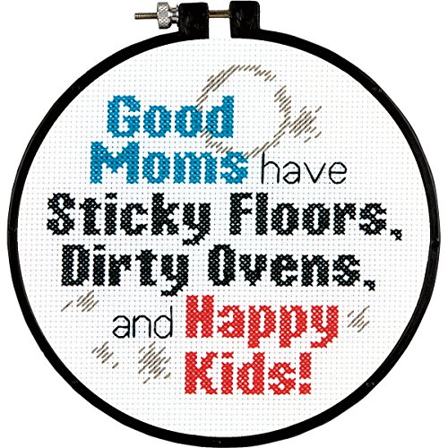 "Stitch Wits Good Moms Mini Counted Cross Stitch Kit-6"" Round"