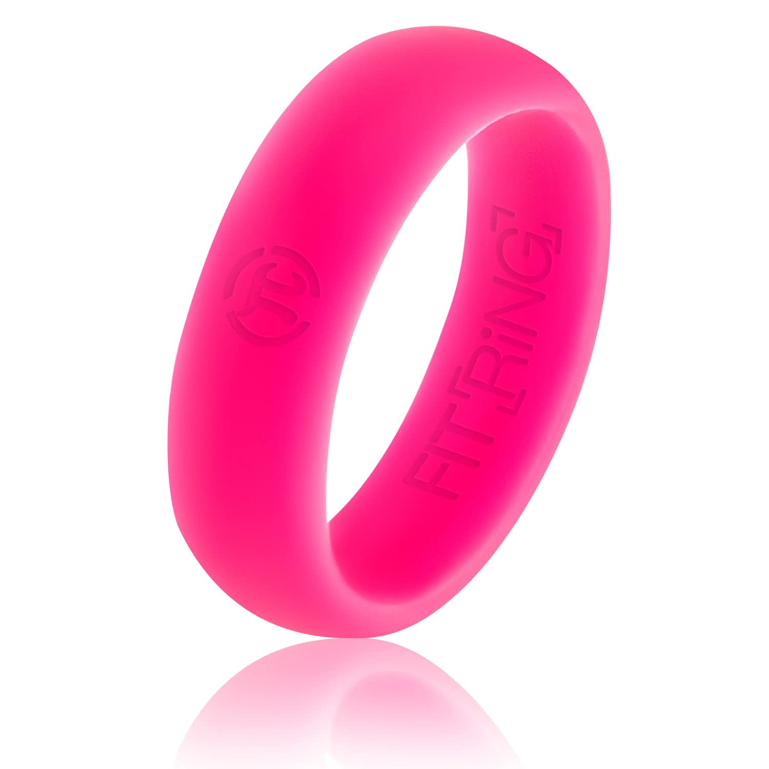 Amazon.com : Women\'s Silicone Wedding Ring by Fit Ring Premium ...