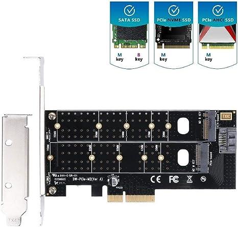PCI-E PCI Express 3.0 X4 to NVME M.2 M Key NGFF SSD pcie M2 Riser ...