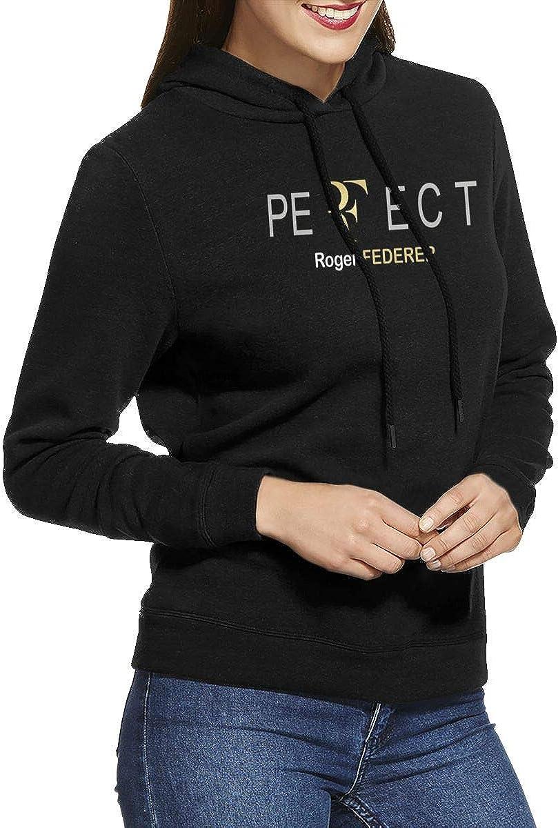 Wanjirong Womens Fleece Pullover Hooded Print Roger Federer Sportswear