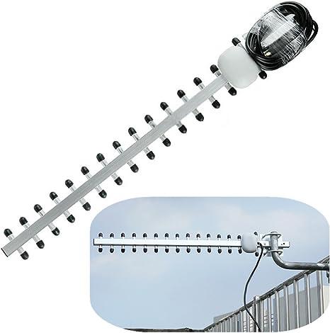 Tutoy Amplificador de señal de Antena Exterior de Antena SMA Yagi 4G LTE de Alta Ganancia de 25dBi