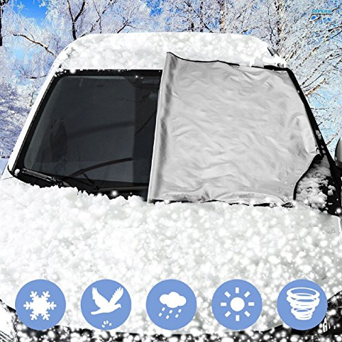 Van Door Flaps Windproof Fits Most Car Snow H-Brotaco XL Magnetic Edges Windshield Snow Cover Frost Windshield Cover SUV Truck Ice Frost Guard No More Scraping