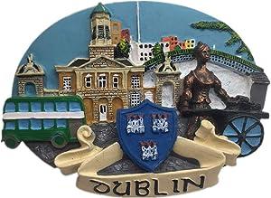Fridge Magnet Dublin Ireland 3D Resin Handmade Craft Tourist Travel City Souvenir Collection Letter Refrigerator Sticker