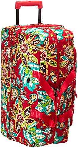 Vera Bradley Women's Lighten up Large Wheeled Duffel, Rumba (Vera Bradley Wheeled Luggage)