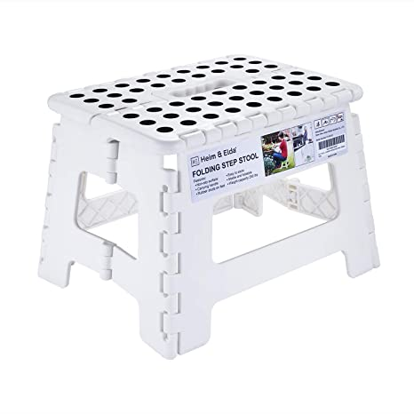 Terrific Folding Step Stool 9 Inch Height Foldable Stool For Kids Adults Kitchen Garden Bathroom Collapsible Stepping Stool White Pabps2019 Chair Design Images Pabps2019Com