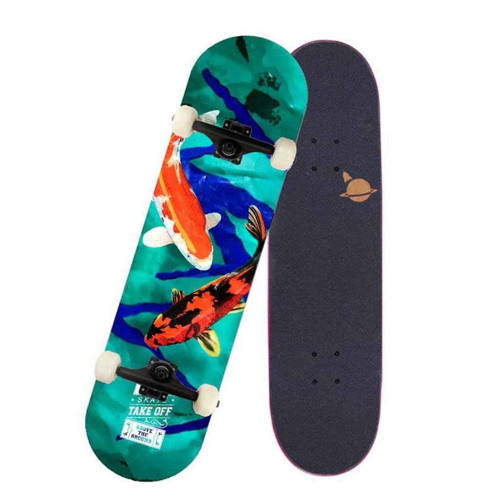 【日本未発売】 HBJP A 初心者スケートボードロングボードダンスボード男の子と女の子のブラシストリートブルースクーター旅行 スケートボード : (色 : A) B07PSN477G B07PSN477G A, 香焼町:077adb61 --- 4x4.lt