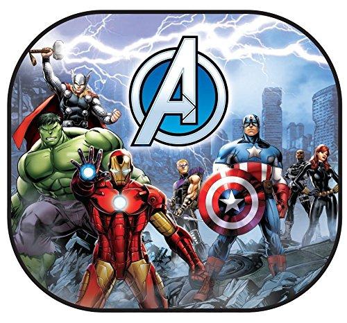 - Marvel 003749R01 Avengers 2-Piece Magic Spring Window Sunshade