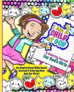 A Coloring Journal For God\'s Girl; Bible Quote Journal & Coloring ...