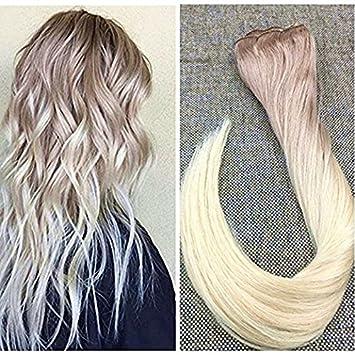 Ugeat 24 Zoll Farbe 18 Aschblond Fading To Farbe 60 Hellblond Ombre Flip Hair Extensions Locken 80gram Flip Brasilianer Remy Extension Echthaar