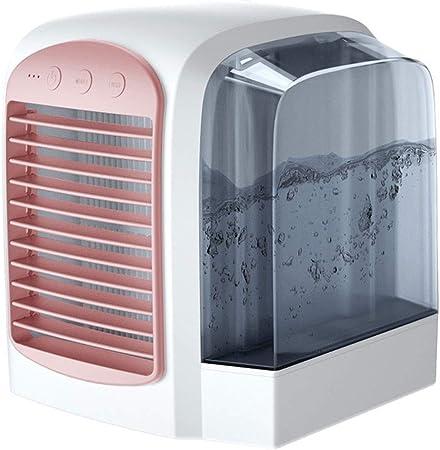 Aire Acondicionado Mini purificador del humidificador del refrigerador de aire del ventilador de la refrigeración por agua, viento portátil de poco ruido de 3 velocidades de USB, espacio personal de l: Amazon.es: